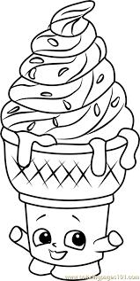 ice cream dream shopkins coloring free shopkins coloring