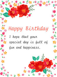 painted style flower birthday card a birthday is the
