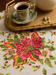 poinsettia tablecloth your home forever beautiful