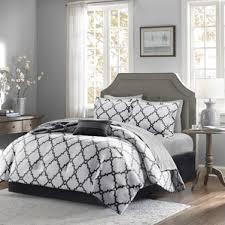 black modern u0026 contemporary comforter sets you u0027ll love wayfair