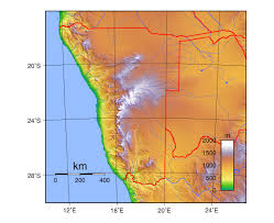 Physical Map Of South Africa by Maps Of Namibia Detailed Map Of Namibia In English Tourist Map
