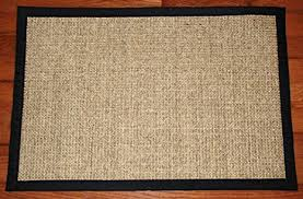 amazon com sisal rug mat 2 u0027x3 u0027 desert black industrial u0026 scientific