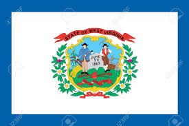 Virginia Flags The Flag Of The American State Of West Virginia Stock Photo