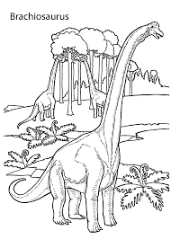 brachiosaurus realistic dinosaurs coloring pages kids