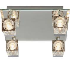 buy collection mira 4 glass cube bathroom spotlights chrome at
