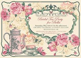bridal tea party invitation free tea party invitations gangcraft net