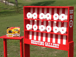 nerf shooting gallery carnival game for birthday church vbs or