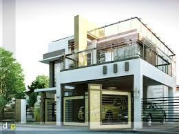 decor eplans house plans using flat roof and balcony and garage