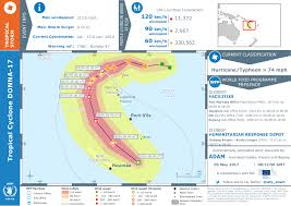 Utc Map Tropical Cyclone Donna 17 Warning N 7 U2014 Wfp Geonode