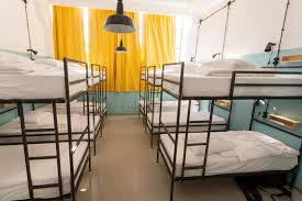 Dormitory Bunk Beds Modern Interior Of Dormitory Room With Bunk Beds In New Hostel