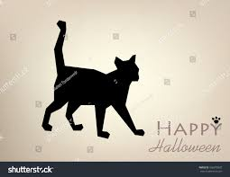 template postcardcardposterbanner black cat silhouette vector