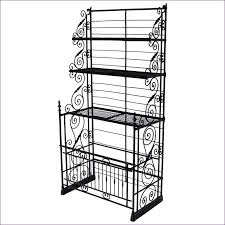 kitchen room wonderful wood wrought iron bakers rack wooden