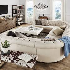 Tufted White Sofa by Knightsbridge Tufted Scroll Arm Chesterfield 9 Seat U Shaped