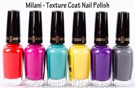 valentine kisses milani texture creams nail polish all 6 shades