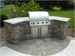 backyards cozy diy brick modular outdoor kitchen island 104
