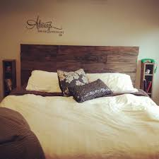 diy timber bed head distressed treated pine with hammer chains