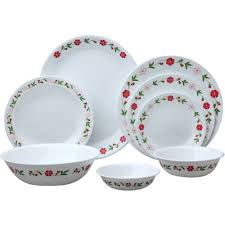 decorating white with floral pattern corelle dinnerware set for