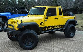jeep truck conversion video mopar introduces jeep wrangler unlimited pickup truck
