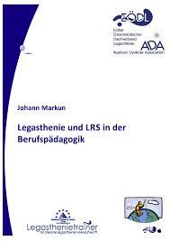 isolierte rechtschreibschwäche legasthenie und lese rechtschreibschwäche in der berufspädagogik