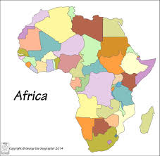 Interactive Map Of Africa by Map Of Africa No Names Deboomfotografie