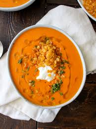 Lobster Bisque Recipe Roasted Red Pepper Soup With Crispy Fried Lentils