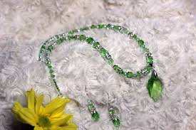 swarovski crystal necklace sets images 1958 peridot sw crystal necklace set gin nel treasures and jpg