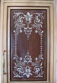 kitchen stencils designs stenciled kitchen door panel i m thinking white background and