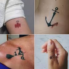 small and mini spooky tattoos popsugar uk