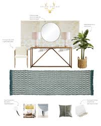 Gold Entry Table Glam Modern Entryway Withheart