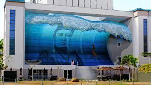 mana nalu honolulu oahu hi trompe l oeil mural by john pugh