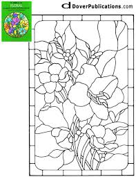 Flower Glass Design Printable Victorian Floral Stained Glass Patterns Stained Glass