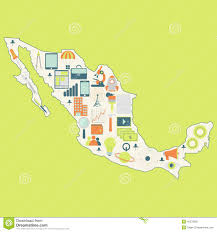 Map Mexico by Map Of Mexico With Technology Icons Stock Vector Image 42278266