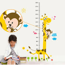 fishes kids height measure growth chart uk wall sticker giraffe kids nursery 1 80 metre height chart