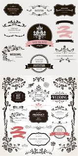 Beautiful Decoration Element Decorative Floral Wedding Design Elements Vector Vector Diy