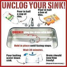 how to unclog a sink without baking soda best way to unclog kitchen sink with kitchen garbage disposal baking