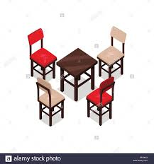 Office Table Chair by Chair And Table Isometric Design Office Table Chair Isolated