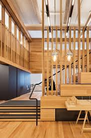 box style events space with tiered seating defines this office
