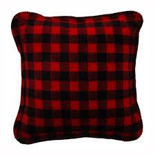 denali home red black buffalo check decorative pillow lumberjack