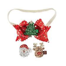 christmas headbands set of three glitter clip christmas headbands for