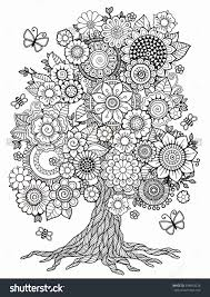 coloring pages for adults tree adult coloring pages tree olegratiy