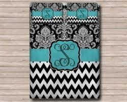 Black White Turquoise Teal Blue by Blue And Black Damask Bedding Foter