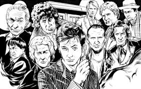 black and white sketches fourth doctor doctors eleventh doctor