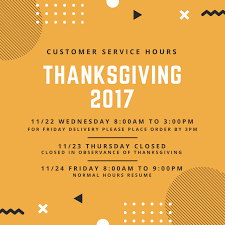 thanksgiving schedule 2017 daylight foods