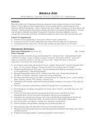 Sample Resume Objectives Construction Management by Senior Interior Designer Resume Resume For Your Job Application
