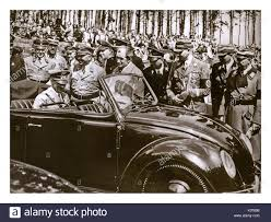 ferdinand porsche beetle adolf with dr porsche at the launch of u0027the people u0027s car