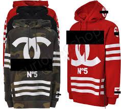 hoodie designer no 5 coco print homme femme hooded sweatshirt hoodie side zip