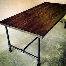 Handmade Kitchen Table Handmade Wood And Galvanized Pipe Dining Room Or Kitchen Table
