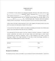 blank promissory note templates u2013 13 free word excel pdf format