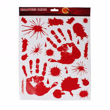 halloween door covers halloween scary bloody handprint footprint window clings door
