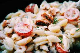 cold smoked salmon pasta salad suitcase foodist